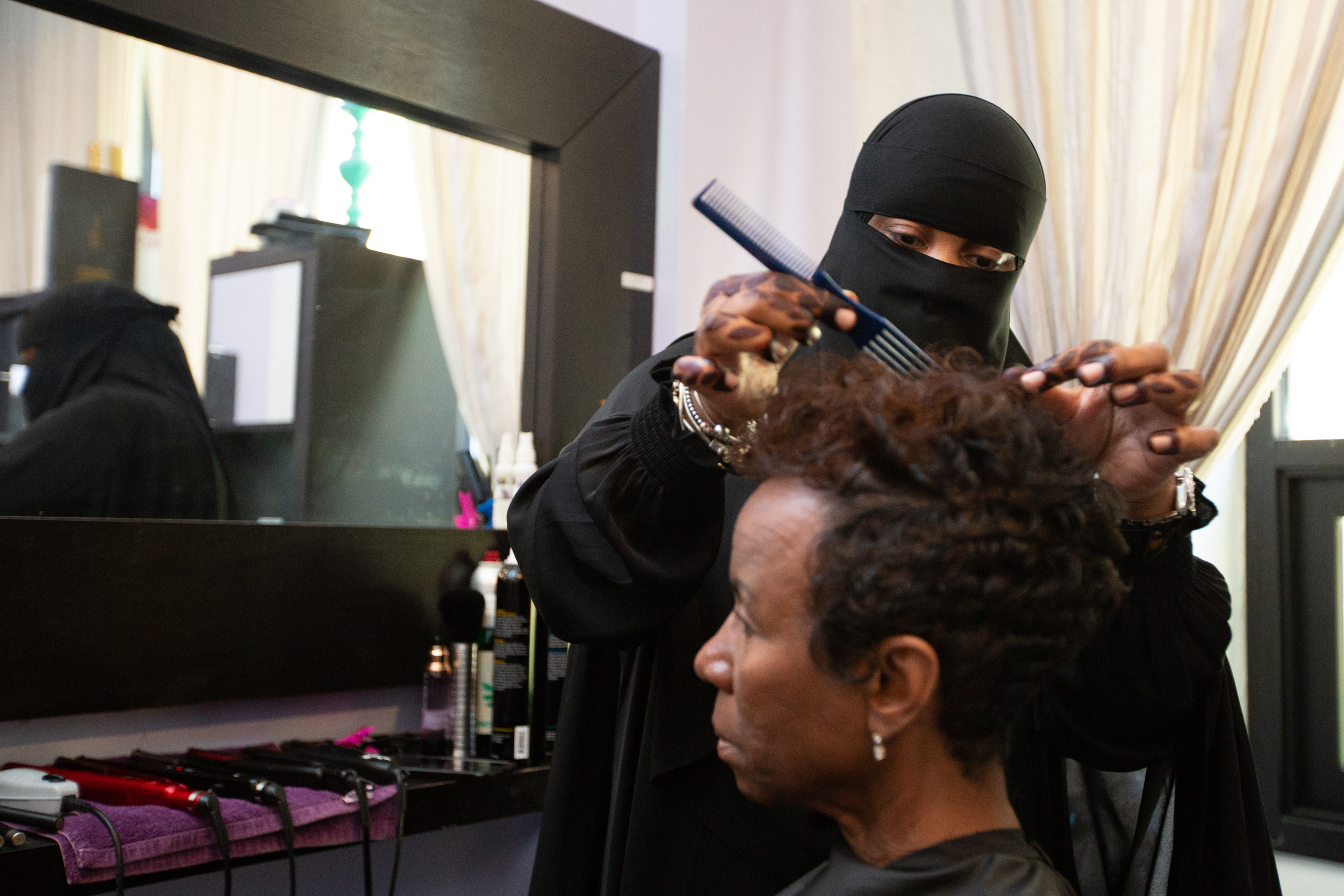 At East Falls Salon Muslim Women Relax Uncover In Comfort