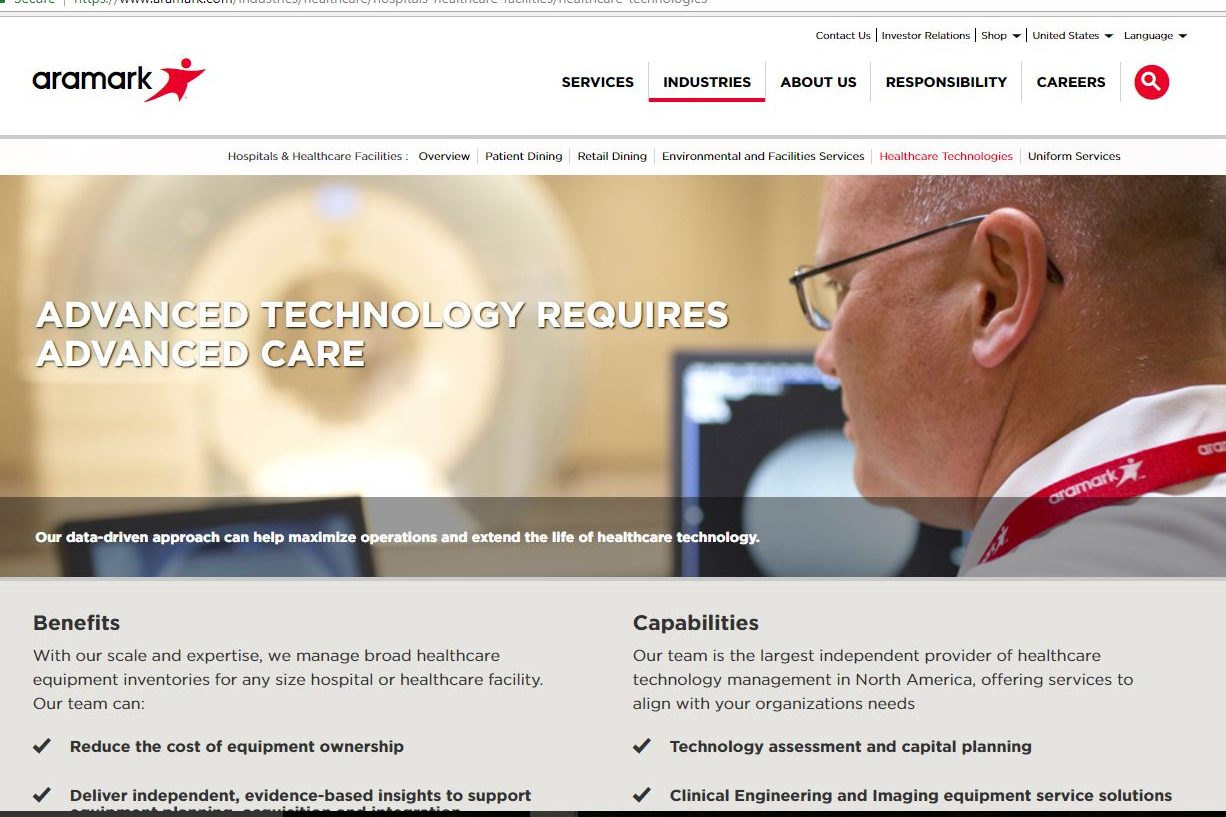 philly.com - Staff Reports - Aramark sells health-care tech business