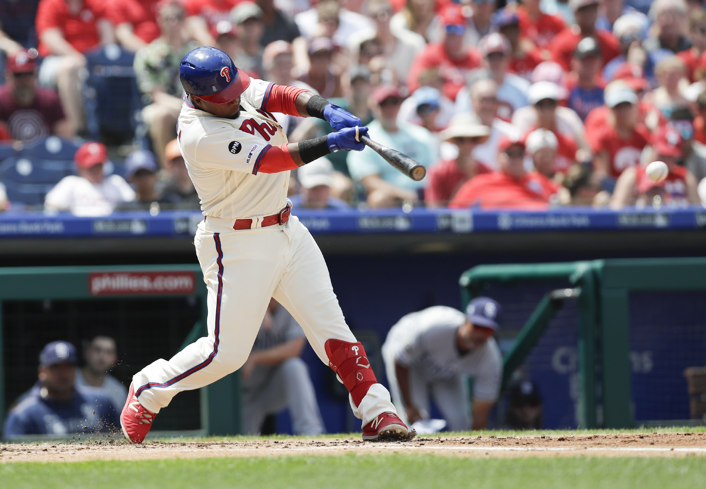 254962bc Phillies look sluggish in loss to Padres as Bryce Harper leaves ...