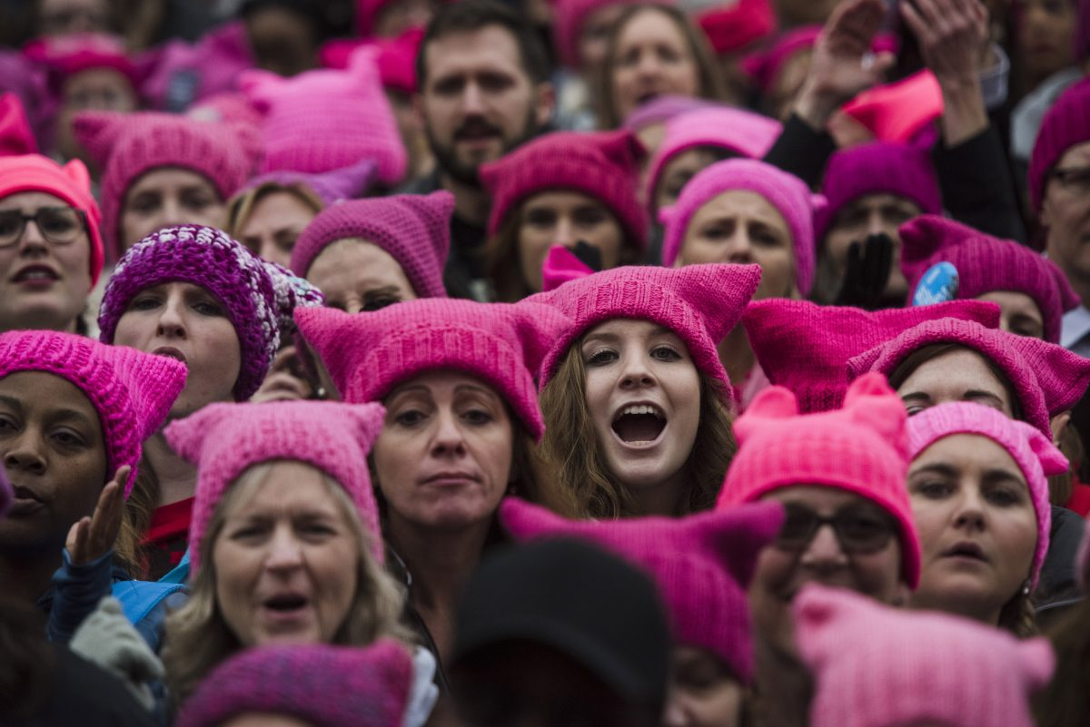 Image result for womens march pussy hats