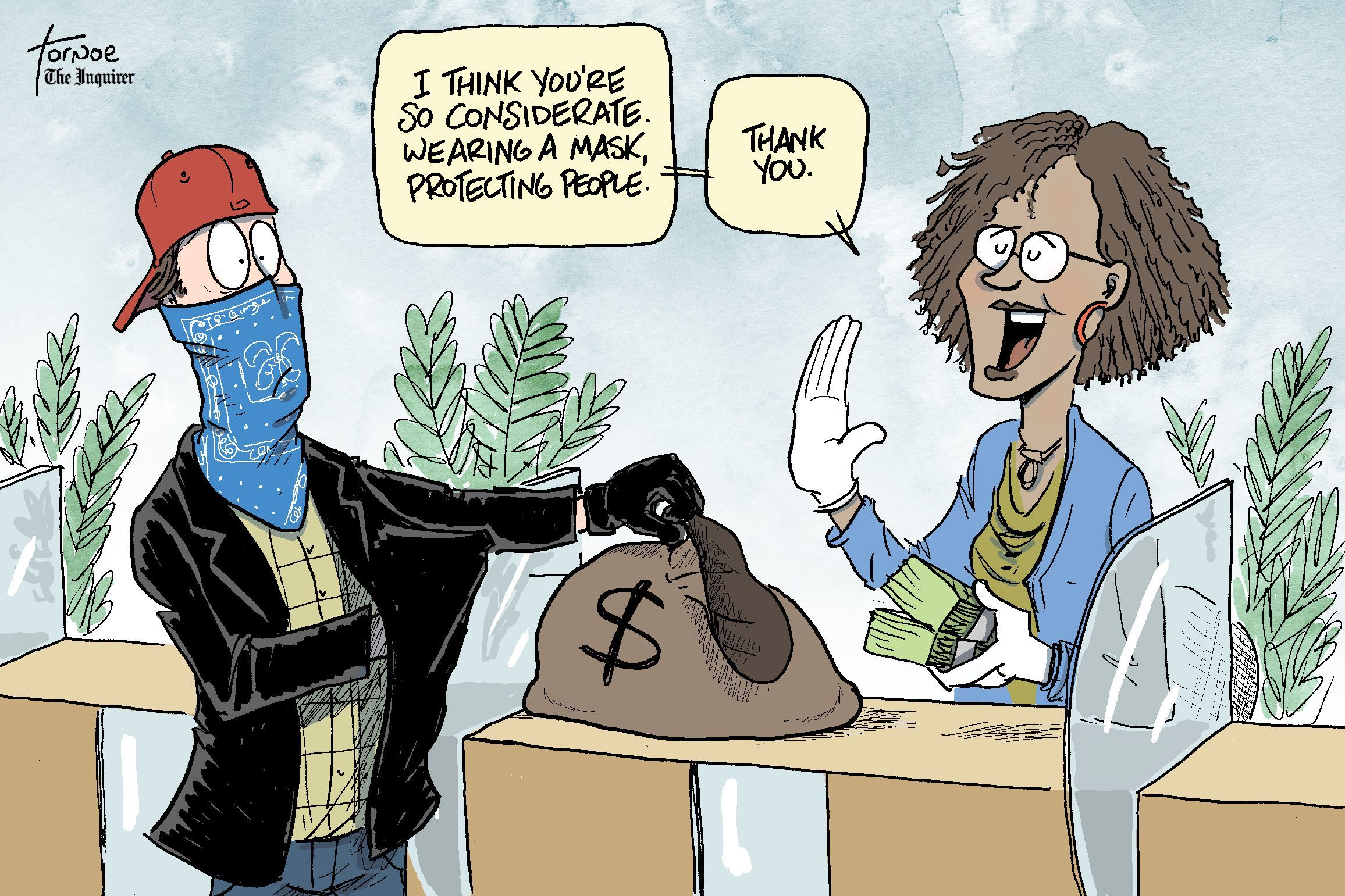 Coronavirus mask: Answers to all your questions... including nudists |  Cartoon