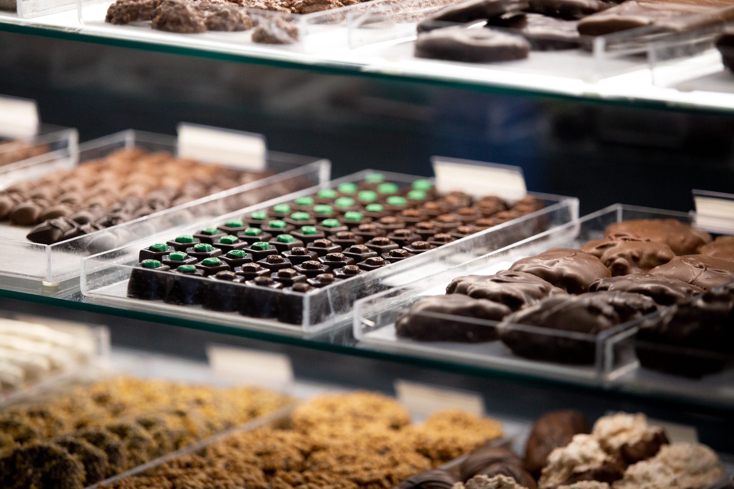 Chocolate and mint truffles from Asher's Chocolates is on display and for sale as part of The Philadelphia National Candy Gift and Gourmet Show at the Greater Philadelphia Expo Center in Oaks January 6, 2019.