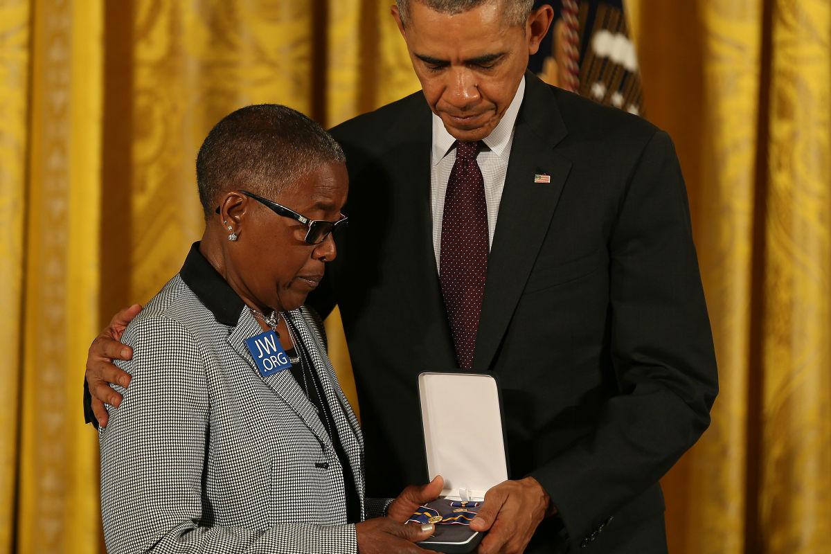 Slain Phila  officer honored in White House ceremony