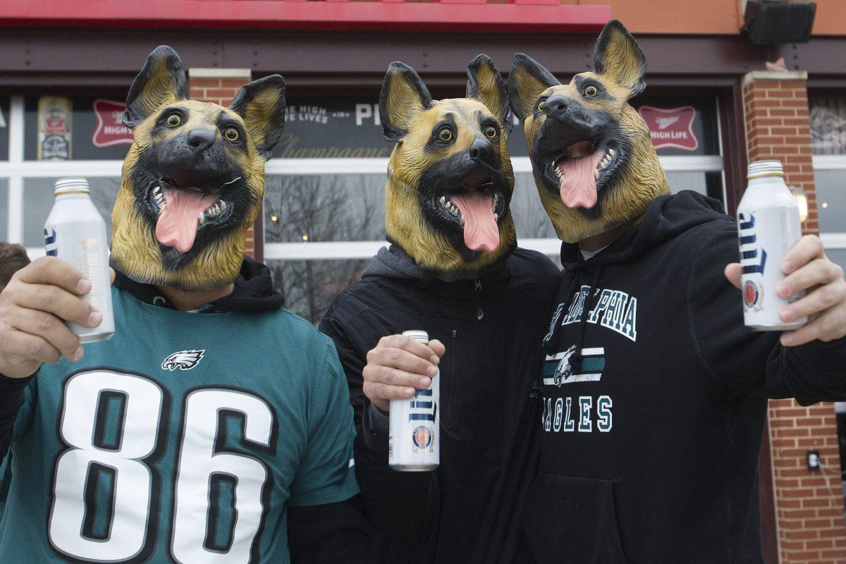 why do eagles fans wear dog masks