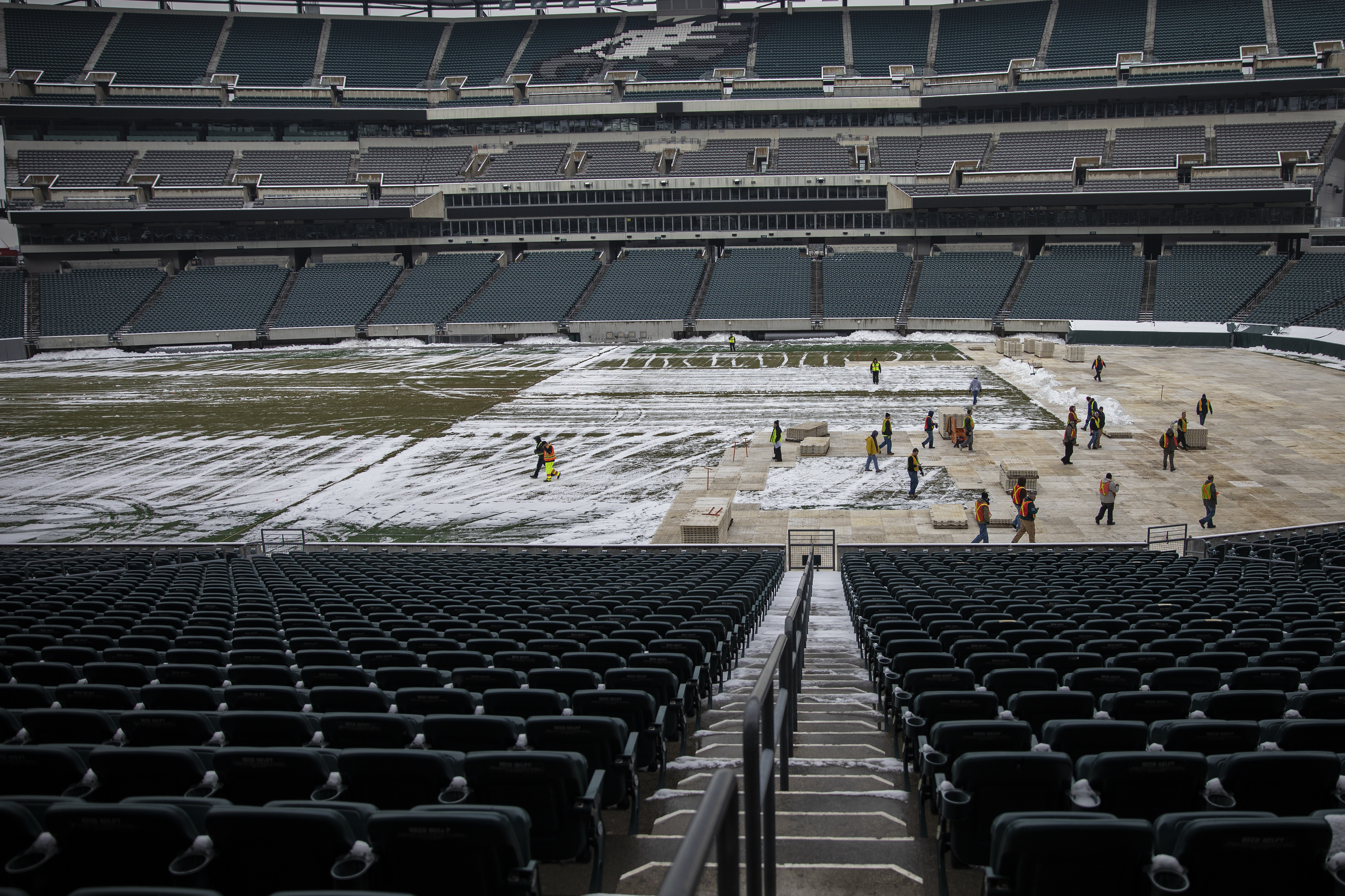 Nhl Begins Prep For Flyers Stadium Series Game Vs Penguins At Lincoln Financial Field