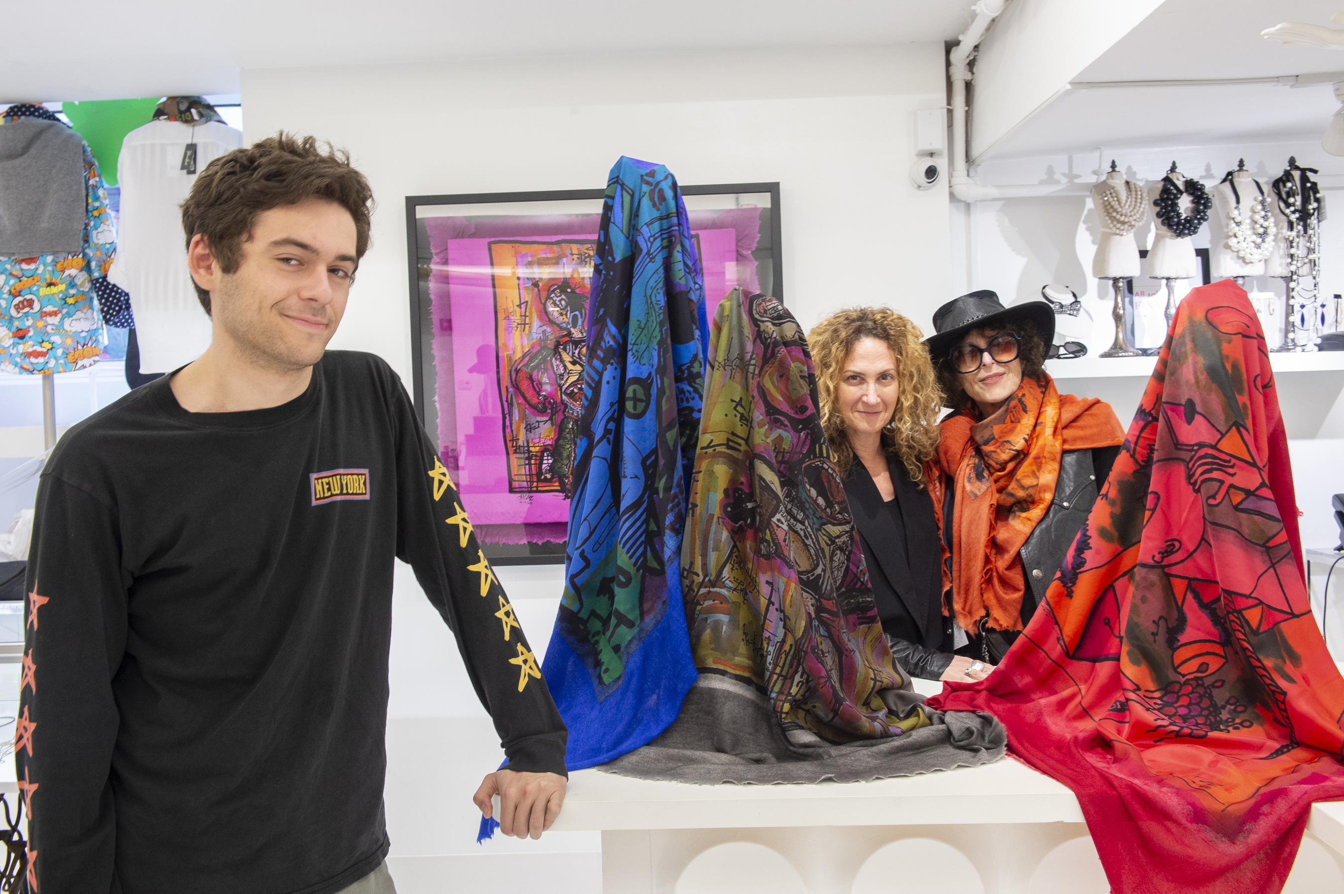 Drawings Of Joan Shepp S Grandson Are At The Center Of A Luxe Designer S Iconic Scarf Elizabeth Wellington